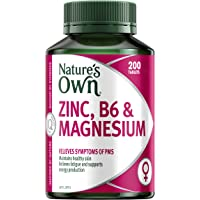 Nature's Own Zinc, B6 and Magnesium - Relieves PMT symptoms - Maintains healthy skin - Supports energy levels, 200…