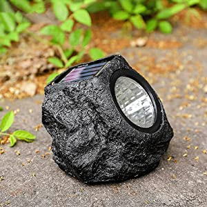 TUU Solar Garden Rock Lights Outdoor, Solar Simulation Stone Lamp, Waterproof Stone Rock Spotlight for Garden Yard Patio Pathway Driveway Landscape