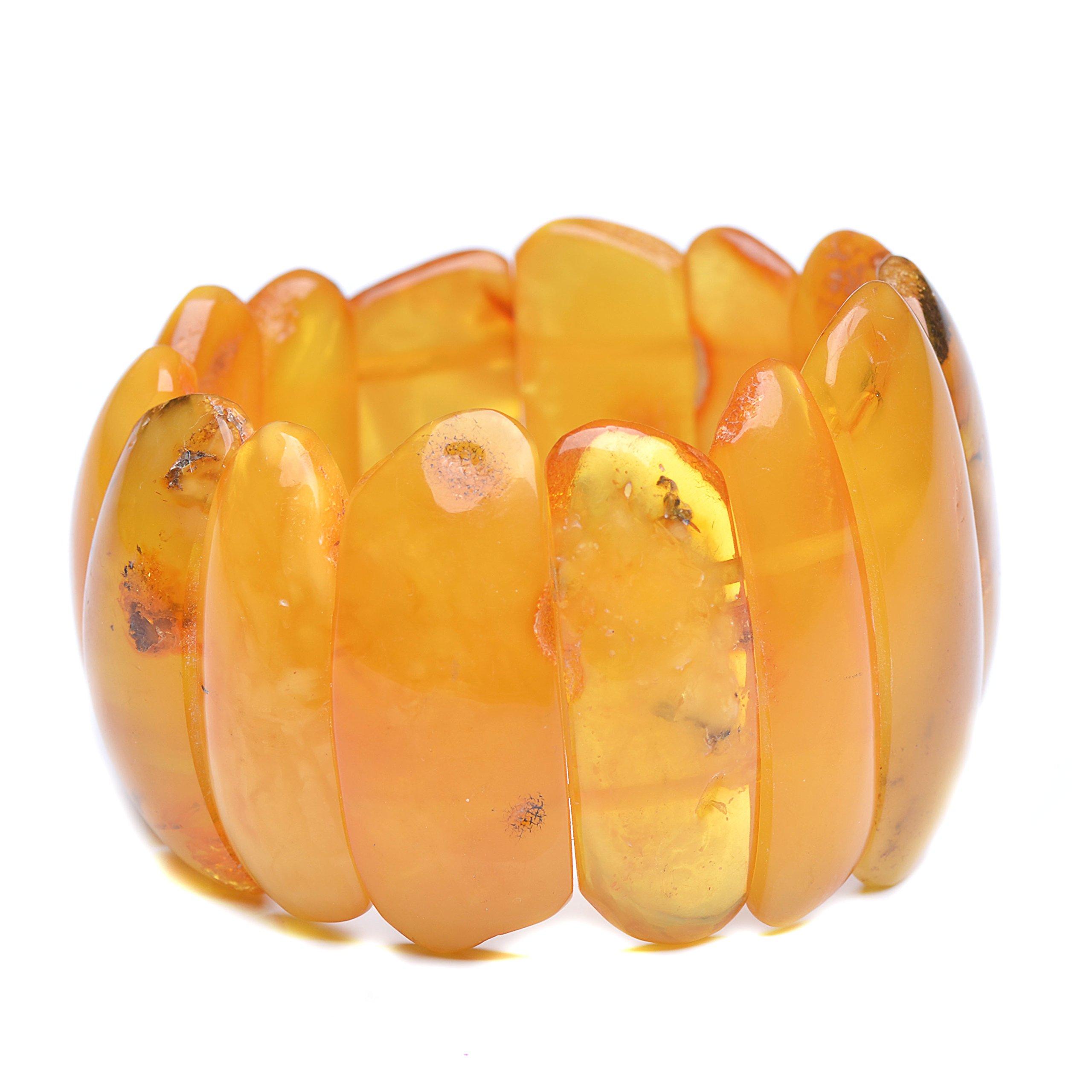 Vintage Amber Bracelet - Unique Amber Bracelet - Certified Handmade Amber Bracelet - Genuine Amber Bracelet (6.7 inches, Butterscotch) by Genuine Amber