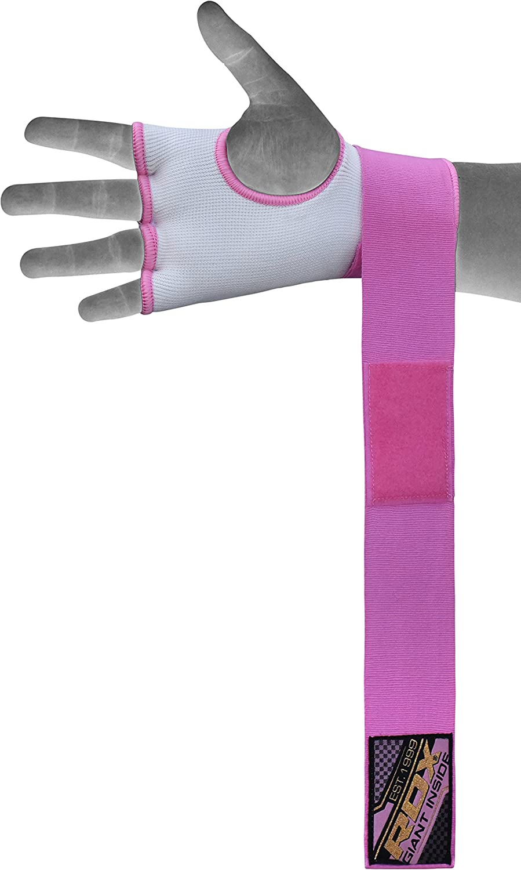 MEHRWEG RDX Elastisch Damen Boxen Innenhandschuhe Boxbandagen MMA Handschuhe Daumenschlaufe