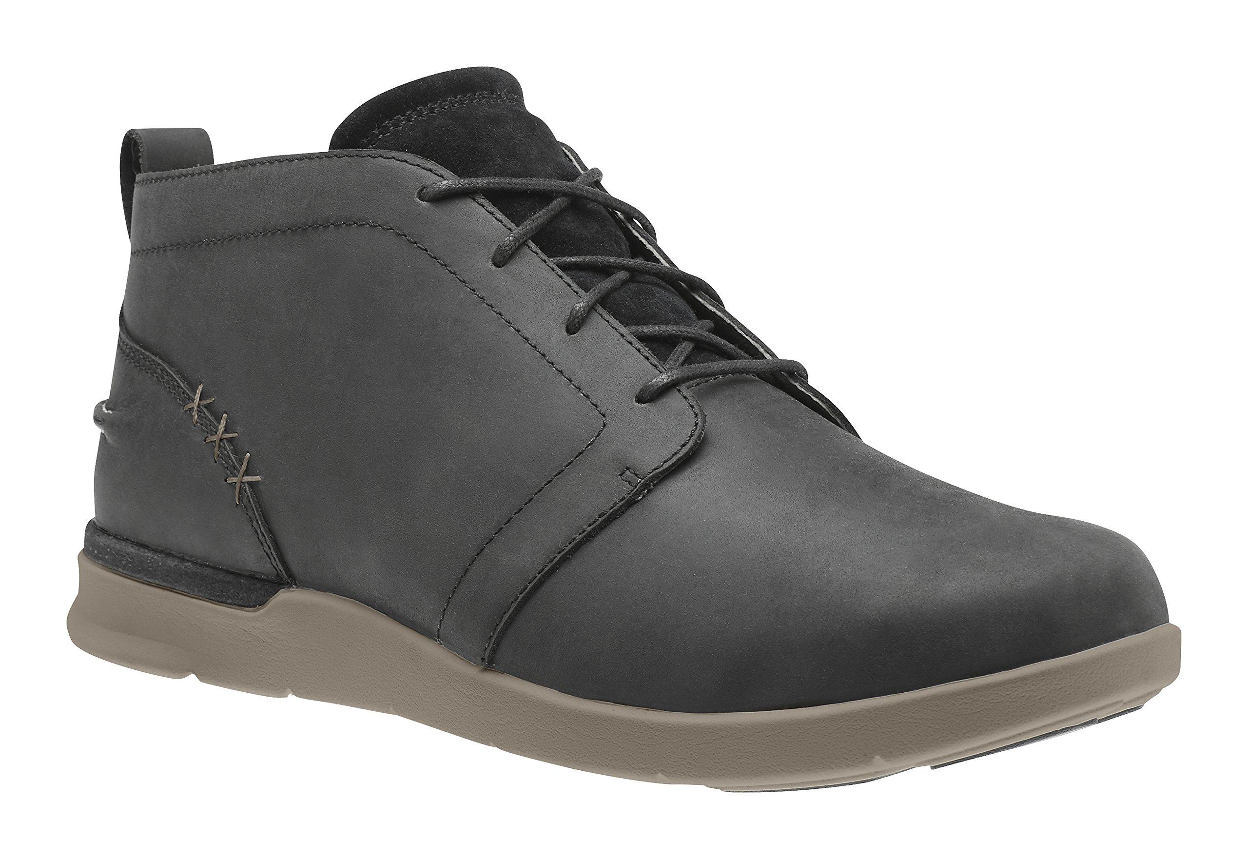 Superfeet Douglas Men's Comfort Casual Boot, Black/Brindle, Full Grain Leather, Men's 11.5 US