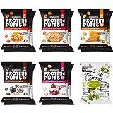 SHREWD FOOD Protein Puffs, Low-Carb, Keto-Friendly Snacks, Gluten-Free, Soy-Free, Peanut-Free, Six Delicious Crunchy…