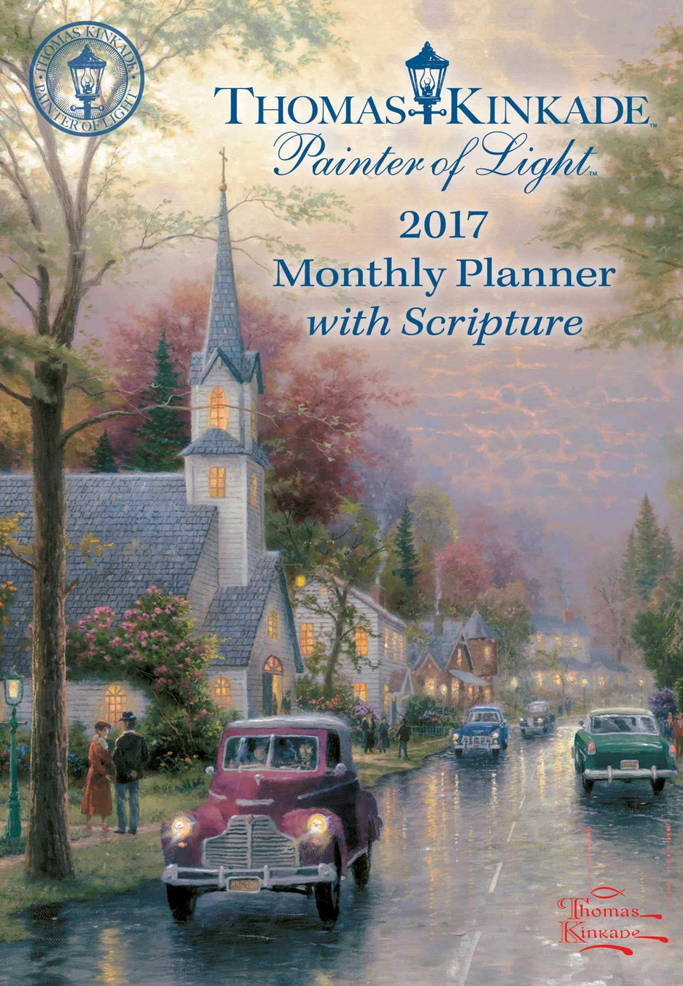 Kinkade Painter Scripture Monthly Planner