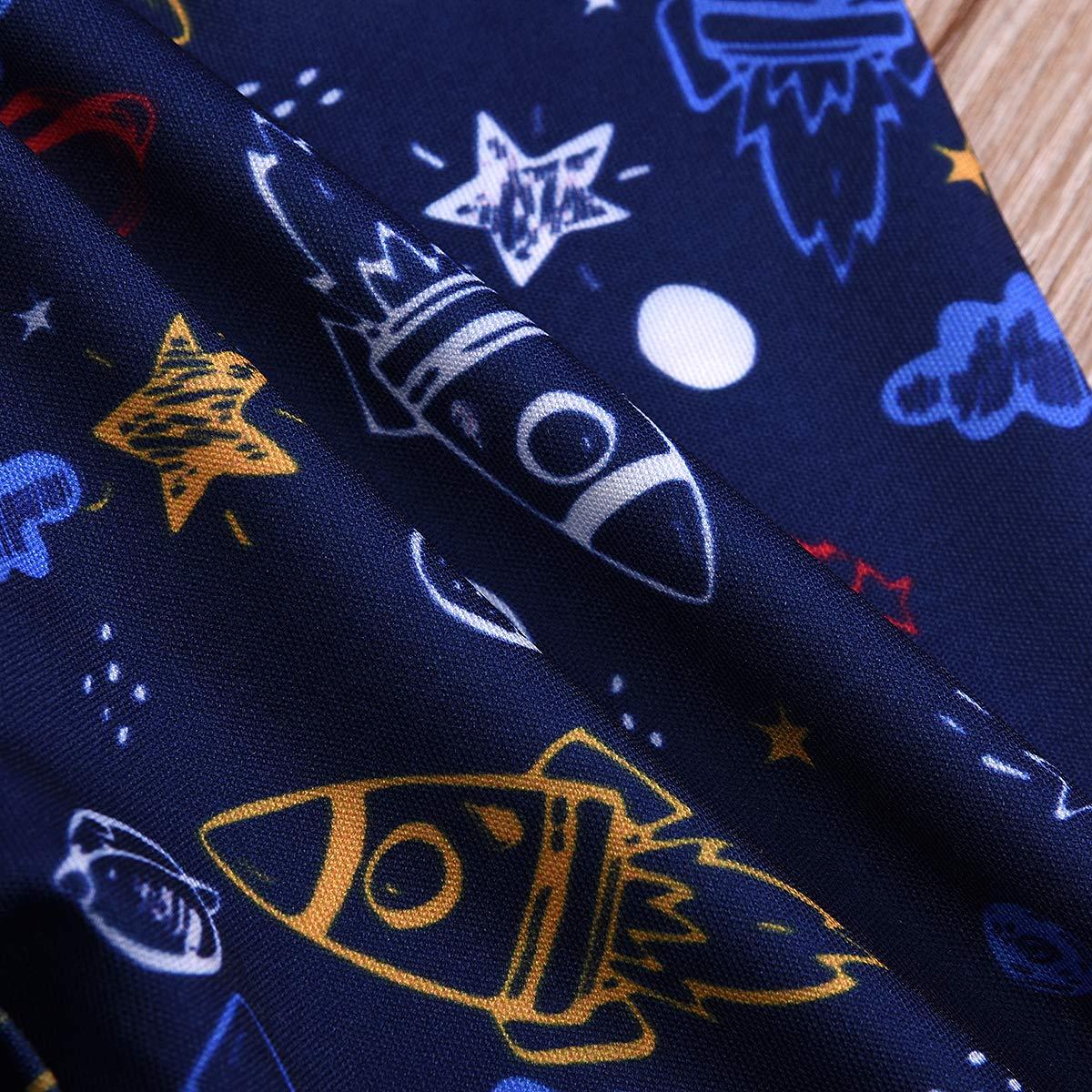 MAFAGE Newborn Baby Boys 3PCS Outfit Set Star Moon Romper Bodysuits Top Long Pants Hat Set Clothes