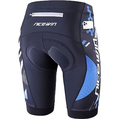 NICEWIN - Pantalones cortos de ciclismo para hombre (acolchados en 3D, secado rápido)