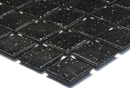 Lampada a mosaico mosaico piastrelle di rete parete uni nero