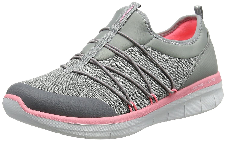 Skechers Synergy 2.0-Simply Chic, Zapatillas sin Cordones para Mujer 37 EU|Gris (Grey/Pink)
