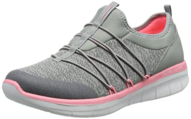 Skechers Damen Synergy 2.0-Simply Chic Slip on Sneaker, Grau (Grey/Pink), 39.5 EU