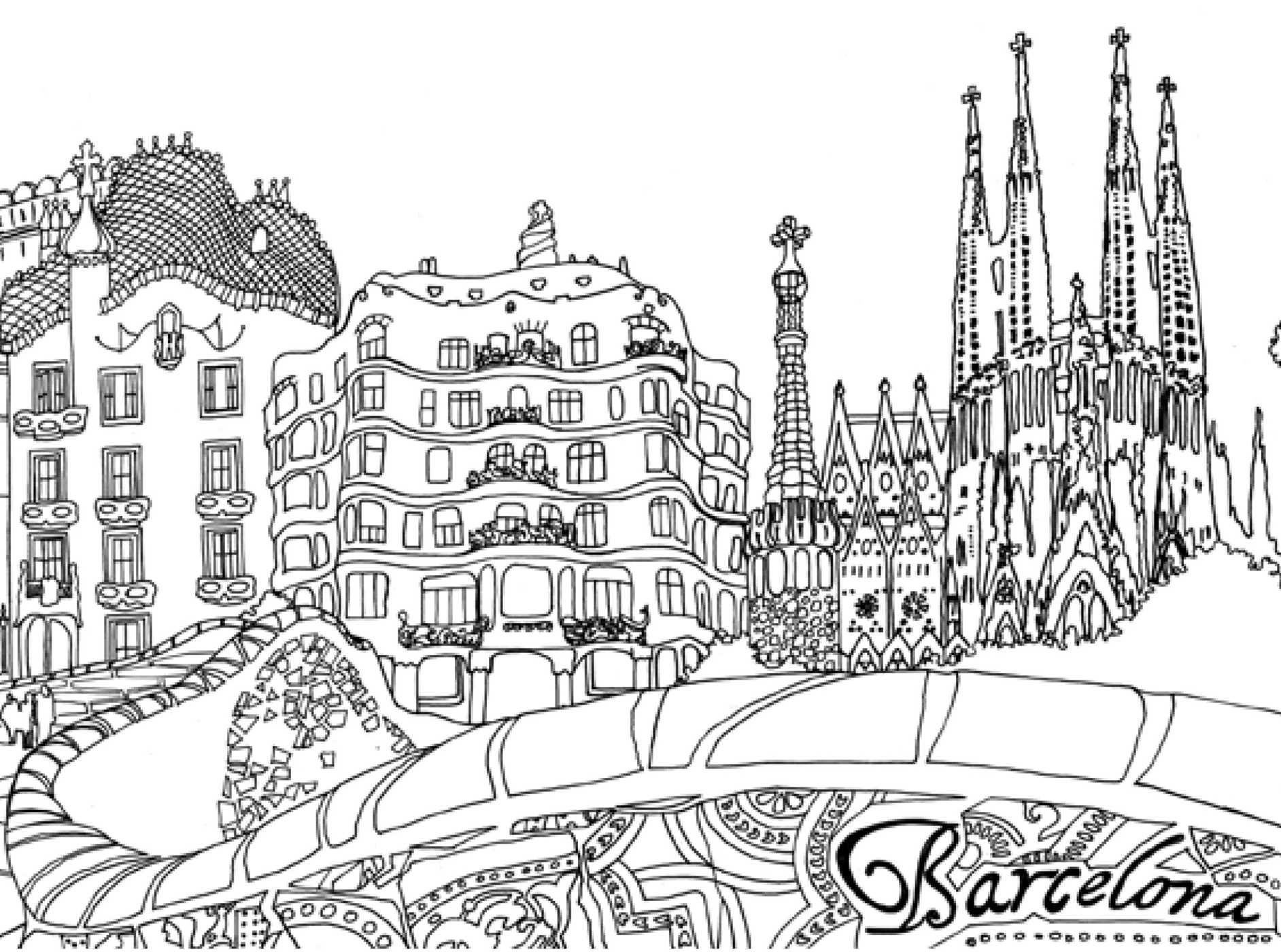 Amazon Pocket Posh Panorama Adult Coloring Book Architecture