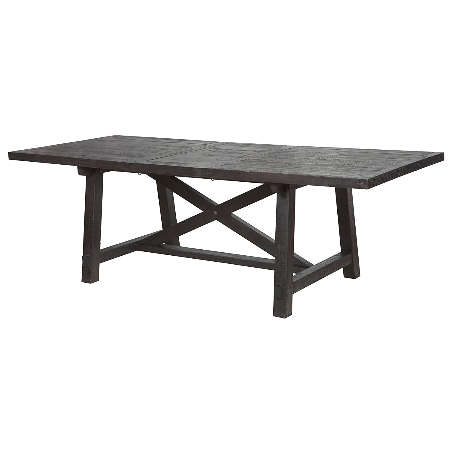 Amazon.com   Modus Furniture 7YC961 Yosemite Solid Wood Rectangular  Extension Table, Black Pine   Chairs
