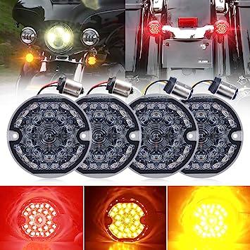 "3 1//4/"" LED Turn Signals Flat Style Rear 1157 LED Turn Signal Kit For Harley"