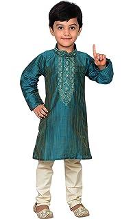 Boys Sherwani Red Ivory Kurta Pajama Indian Bollywood Fancy Dress Age 5 6 7 8