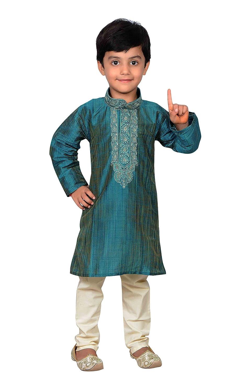 Boys Indian Sherwani in art silk kids Bollywood Kurta salwar kameez Churidar 876