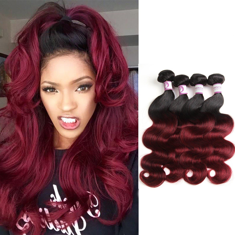 Amazon Racily Hair Ombre Virgin Brazilian Hair Body Wave 4