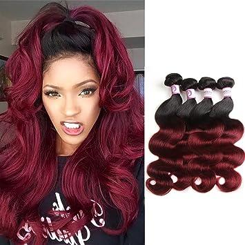 Amazon Com Racily Hair Ombre Brazilian Hair Body Wave 4 Bundles