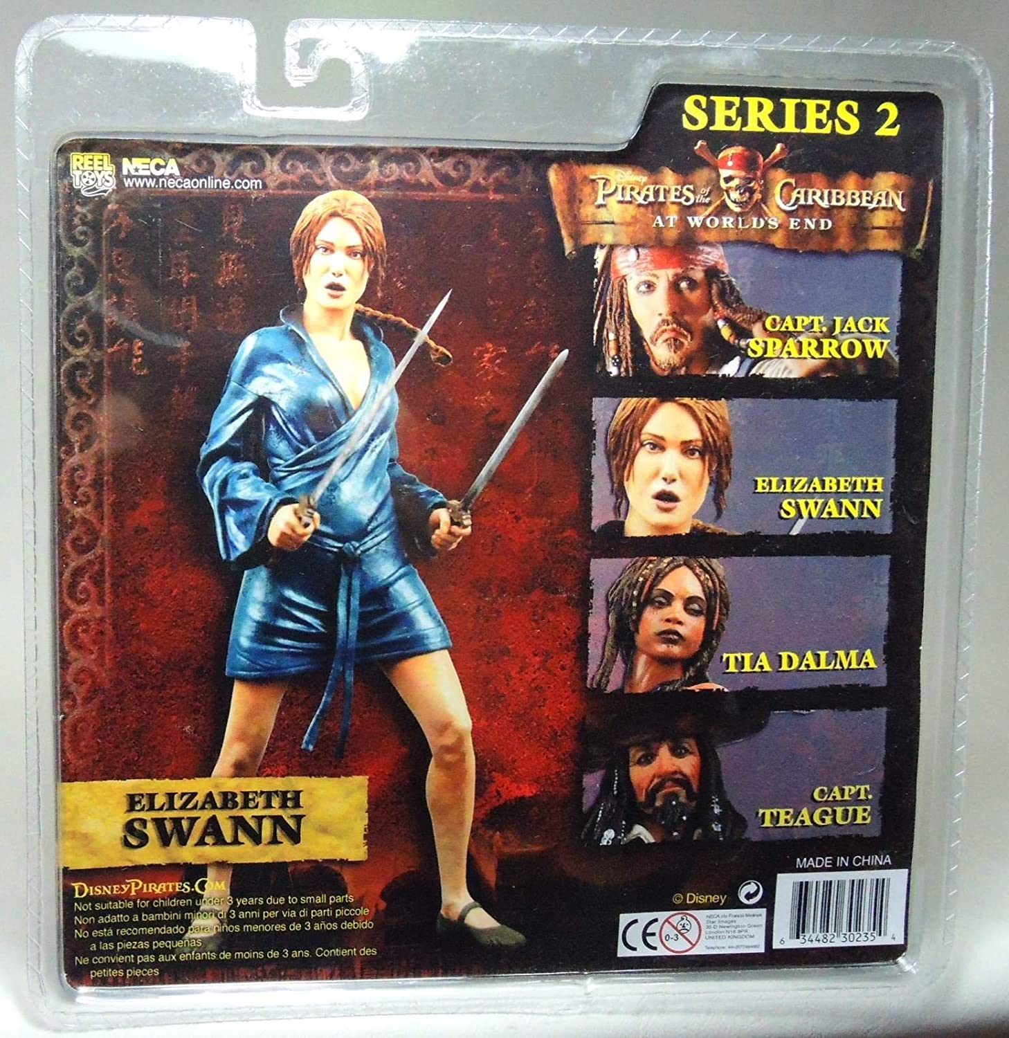 NECA PIRATES OF THE CARIBBEAN At World/'s End Série 2 Elizabeth Swann Action Fig