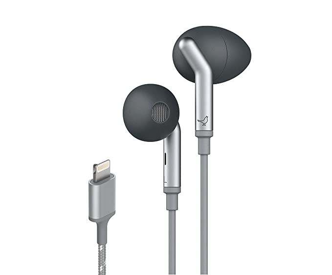 libratone q adapt lightning in-ear active noise cancelling earbuds, wired  headphones with built-in microphone, ipx5 waterproof, stereo sound with  deep bass–