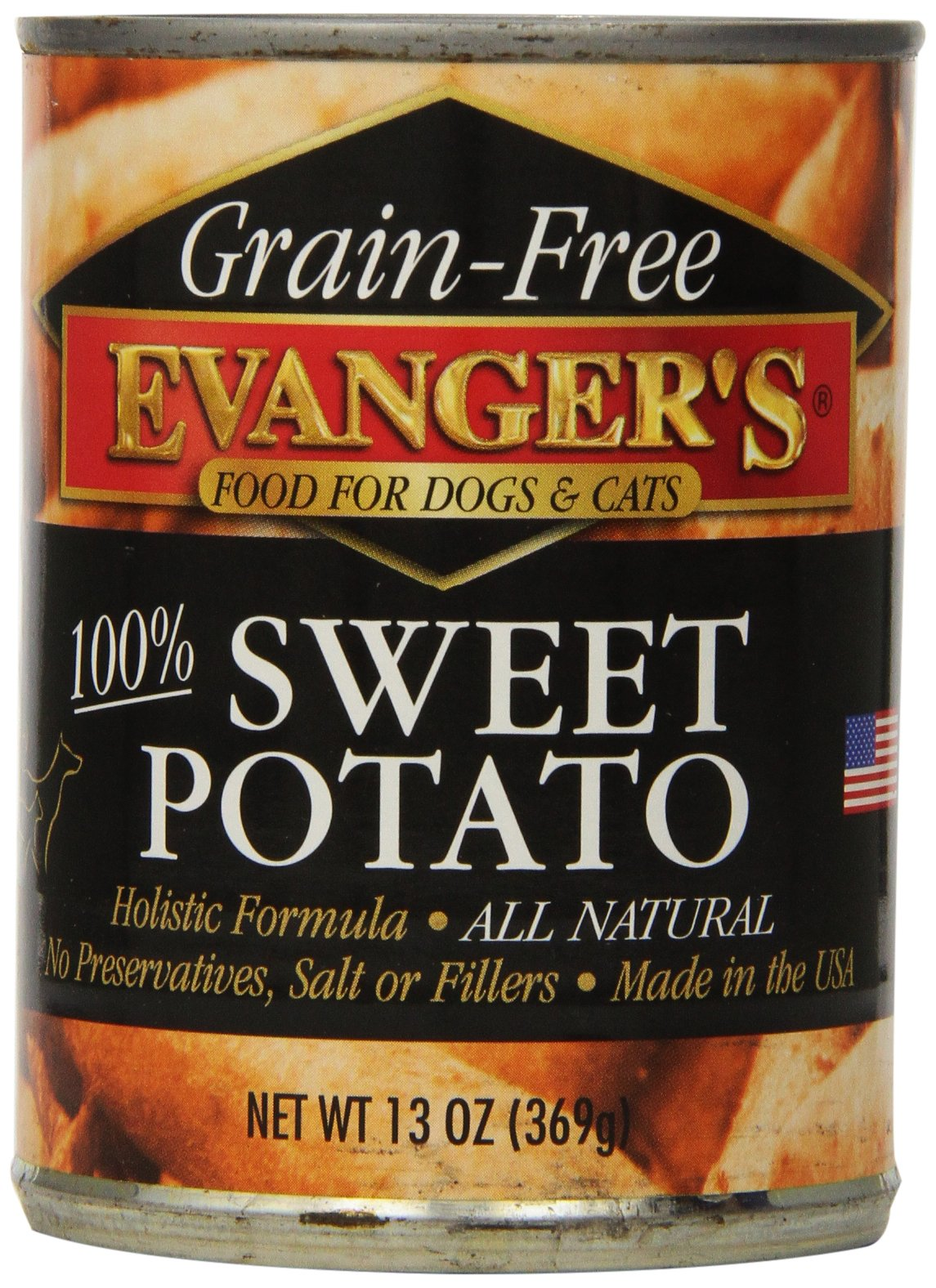 Evangers Grain Free Sweet Potato, for Dogs and Cats, 13-Ounce, 12 Count