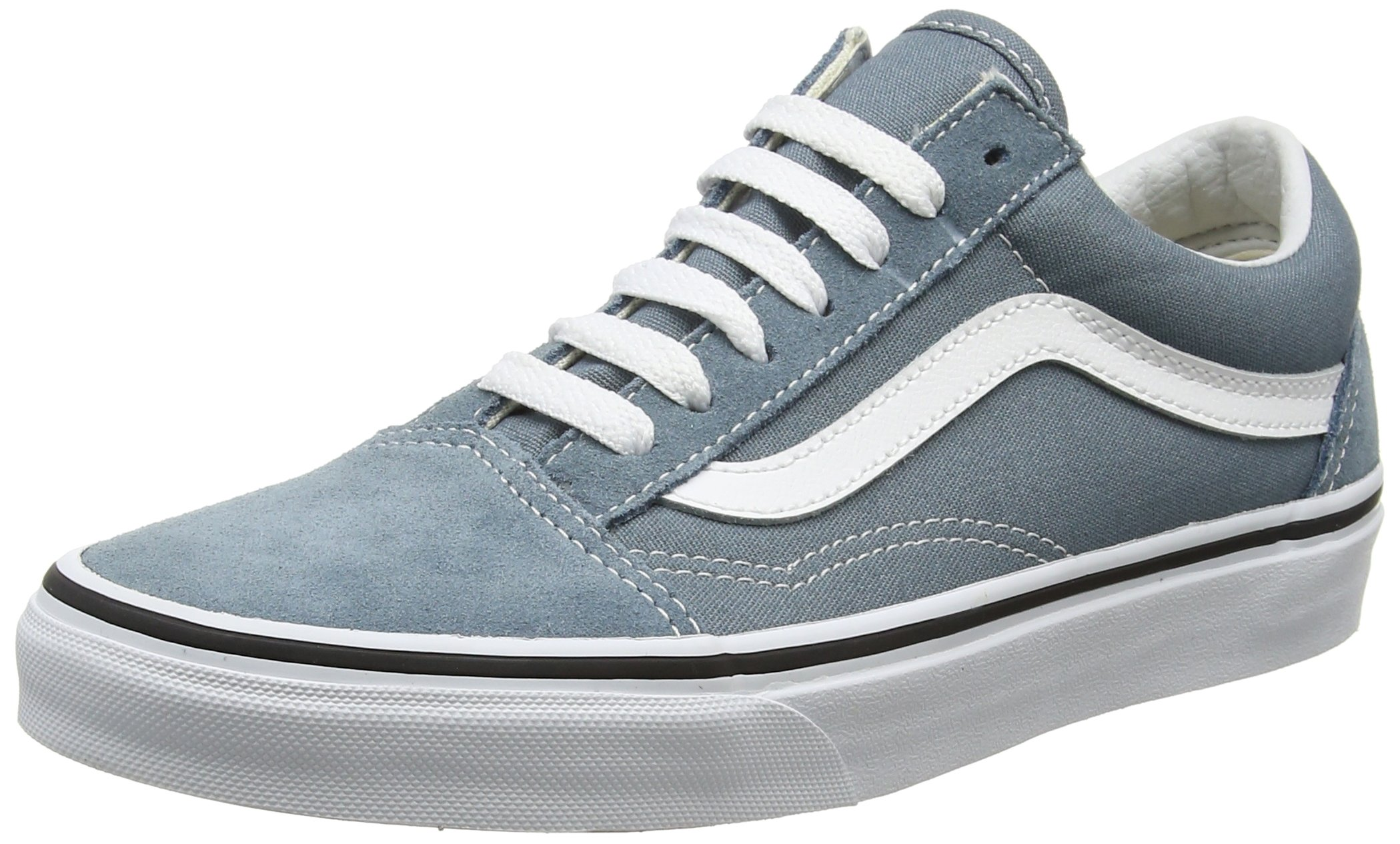 Vans Unisex Adults Old Skool Classic Suede/Canvas Sneakers, Blue (Goblin Blue/True White), 5 UK (38 EU)