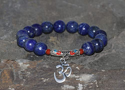 MonsalveCreations jasper Set of four bracelets with lapis lazuli boho bracelet magnesite and Tibet silver Claudia R\u00fctzel jade bangle