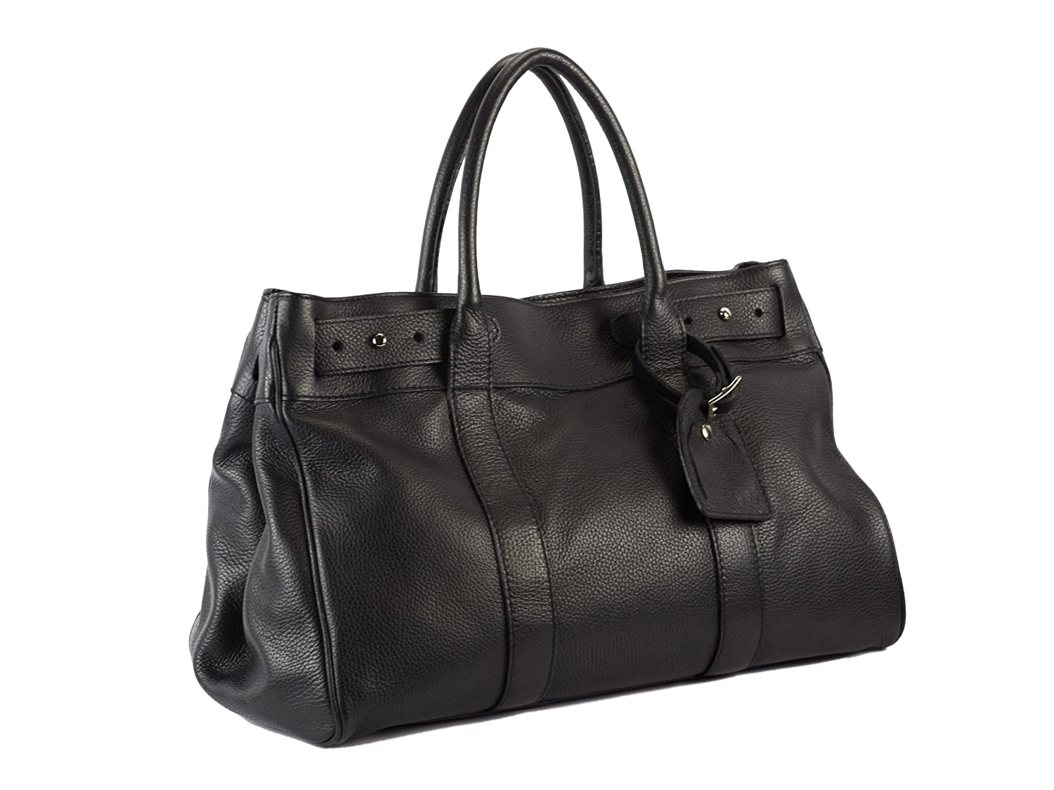 Claudia Firenze Pebbled Leather Satchel Tote X-Large