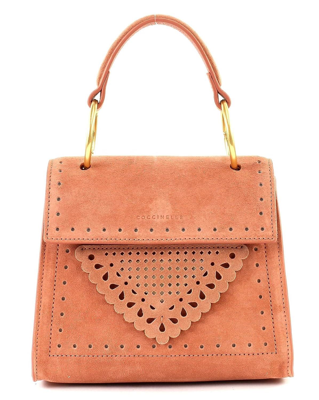 Coccinelle B14 Lace Suede Small Handbag Argile B07DXP184T Schultertaschen