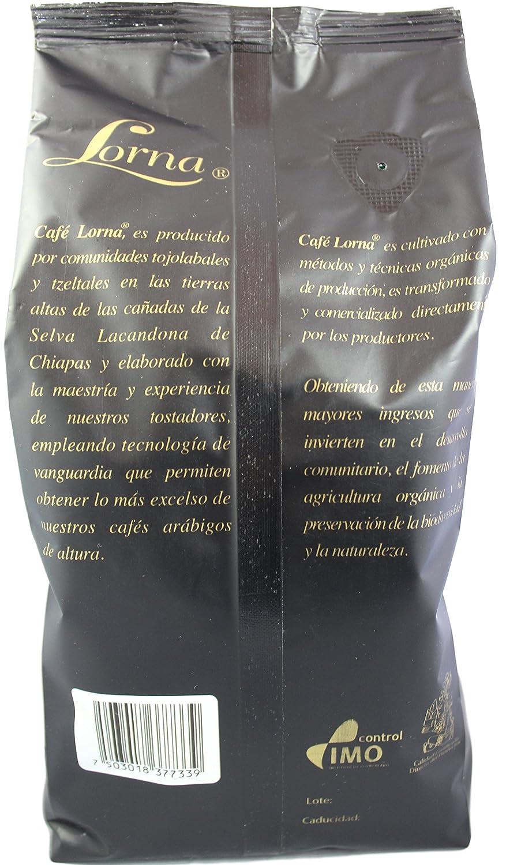 Amazon.com : Lorna Café Espresso Mexican Chiapas Organic Premium Gourmet Coffee, 18 oz. (Espresso Roast / Whole Bean, 18 oz) : Grocery & Gourmet Food