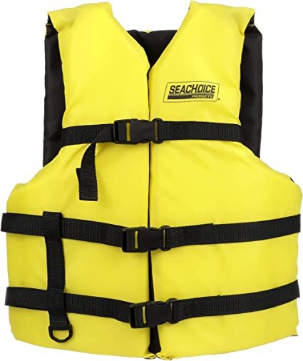 Amazon Com Seachoice 86530 Type Iii General Purpose Personal Flotation Device Yellow Sports Outdoors