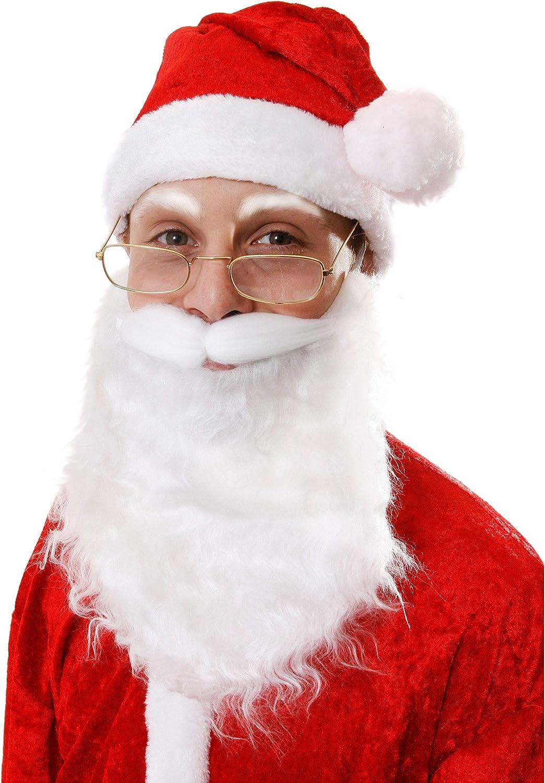 Elf Beards 6 x Kids Fake Christmas Self-Adhesive Fancy Dress Santa