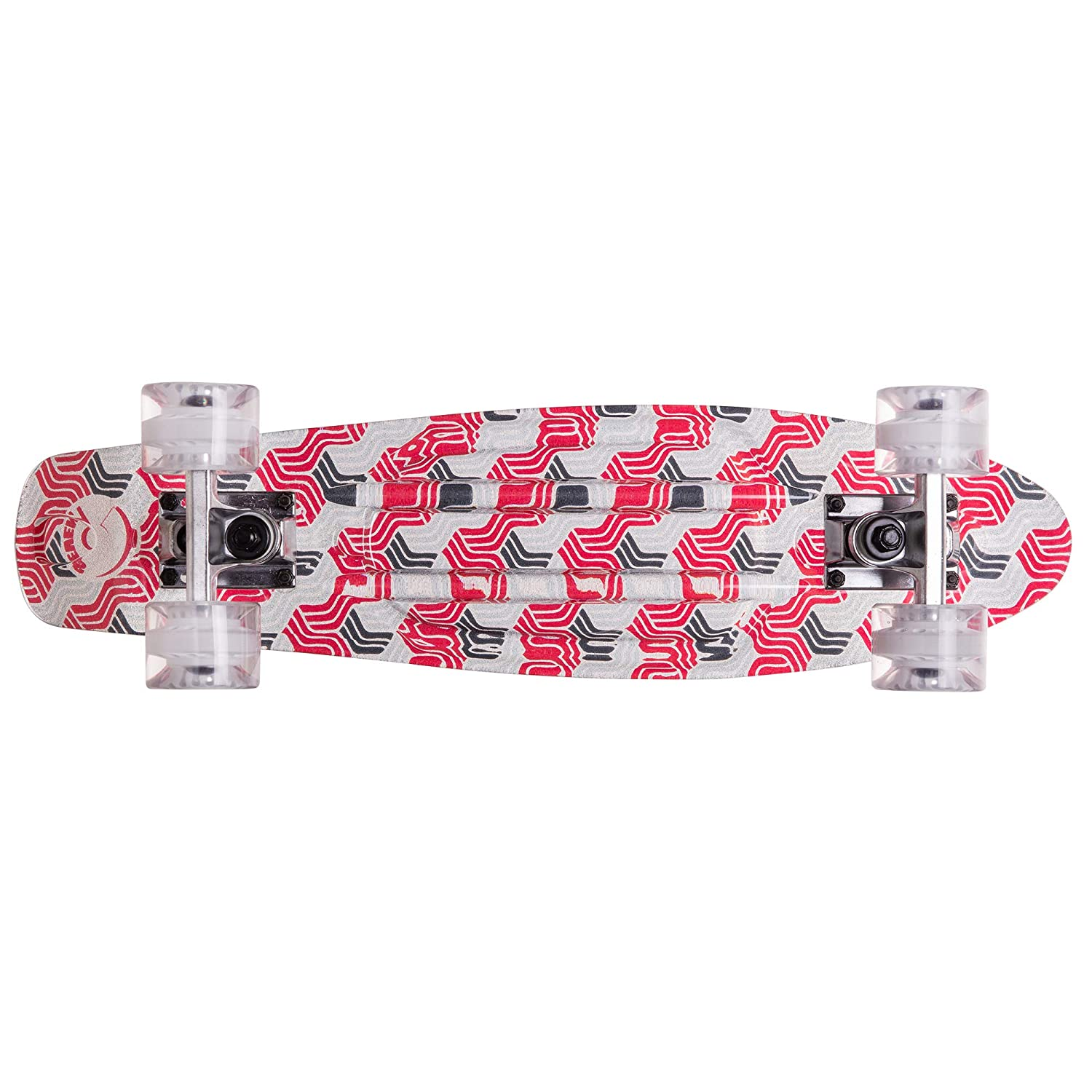 22 Inch Micro Board Cal 7 Complete Mini Cruiser Vintage Skateboard for School and Travel