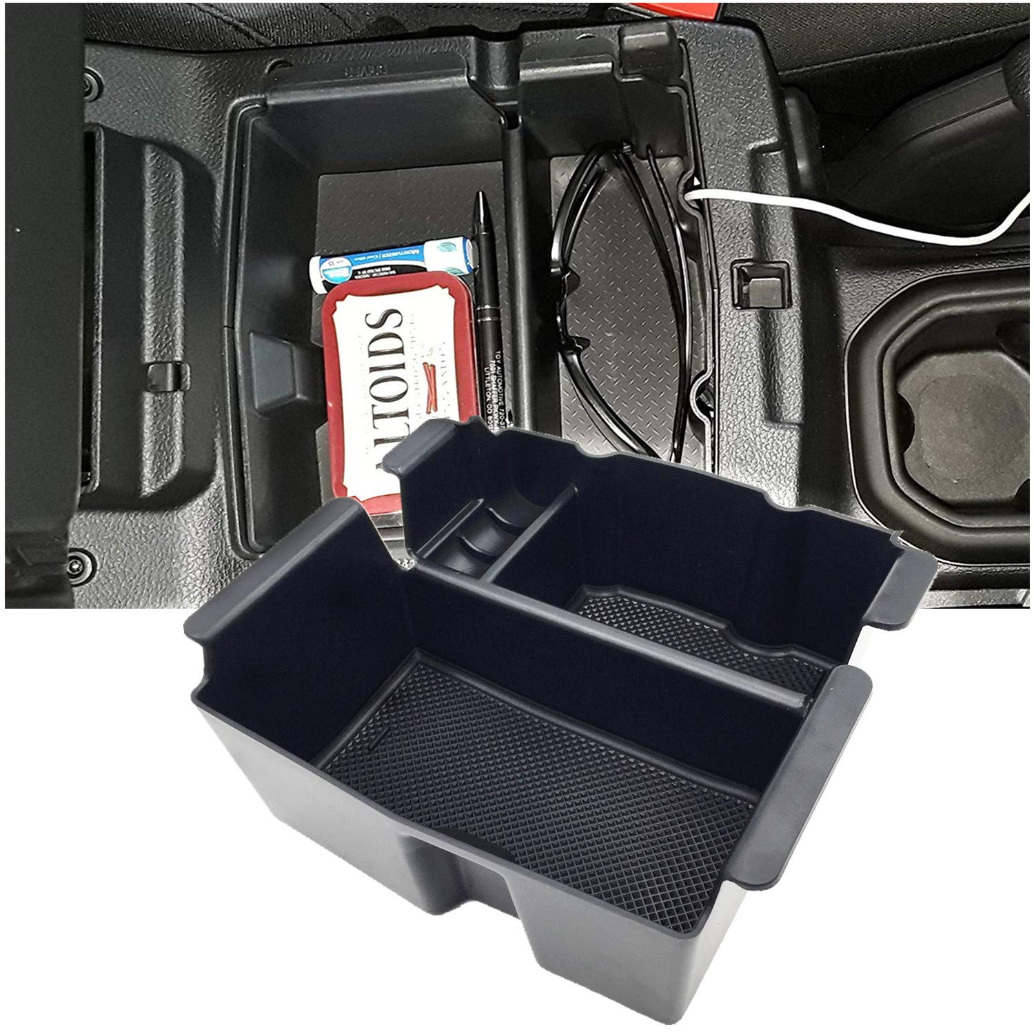 JOJOMARK for 2018 2019 Jeep Wrangler JL and JLU Accessories Center Console Organizer Tray Also for Jeep Gladiator JT Truck 2020 by JOJOMARK