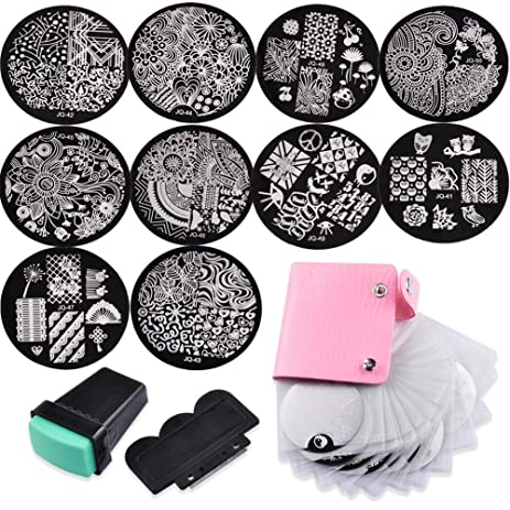 Amazon biutee nail art image stamp stamping plates with biutee nail art image stamp stamping plates with stamperscraper and pack bag prinsesfo Image collections
