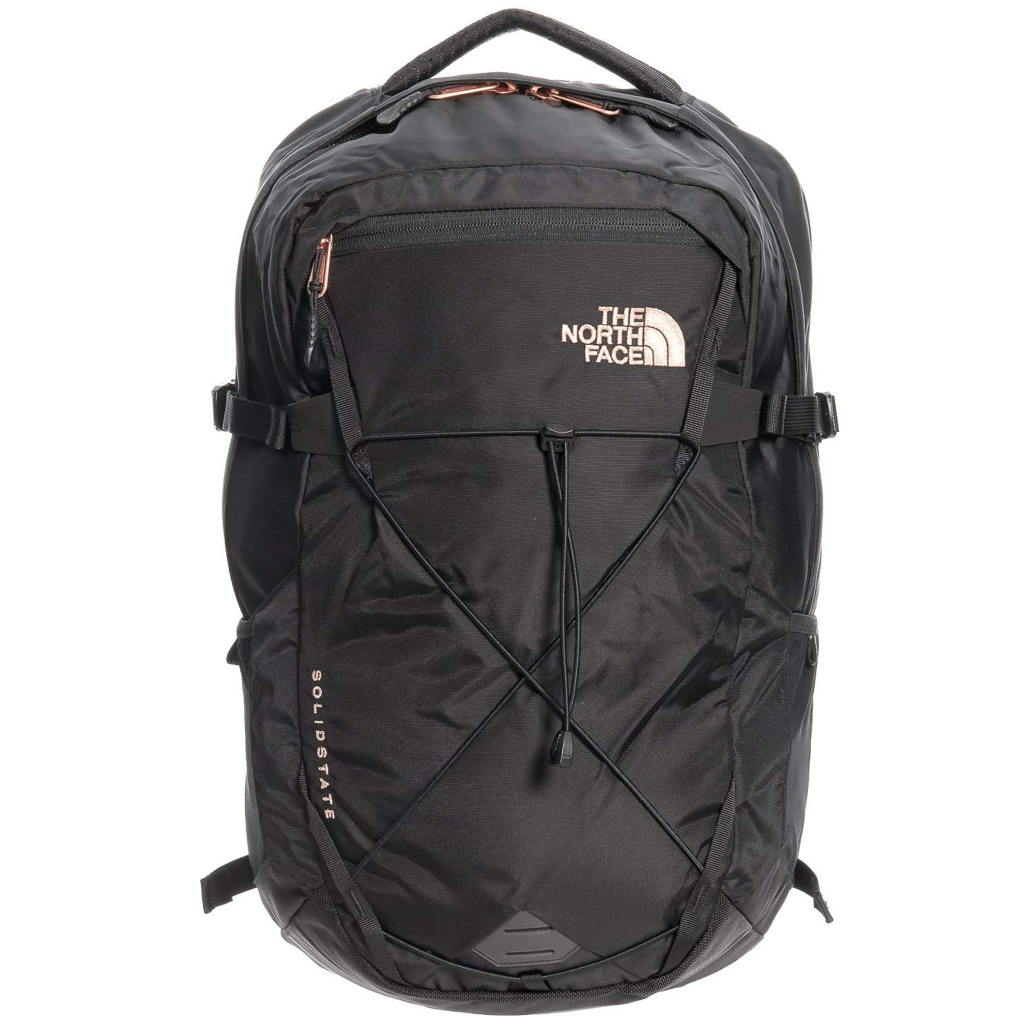 The North Face Women's Solid State Laptop Backpack, Black/Rose Gold by The North Face
