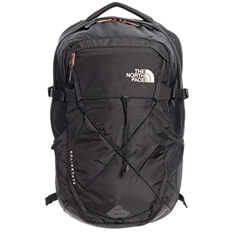 1517afdb98 The North Face Women's Solid State Laptop Backpack, Black/Rose Gold