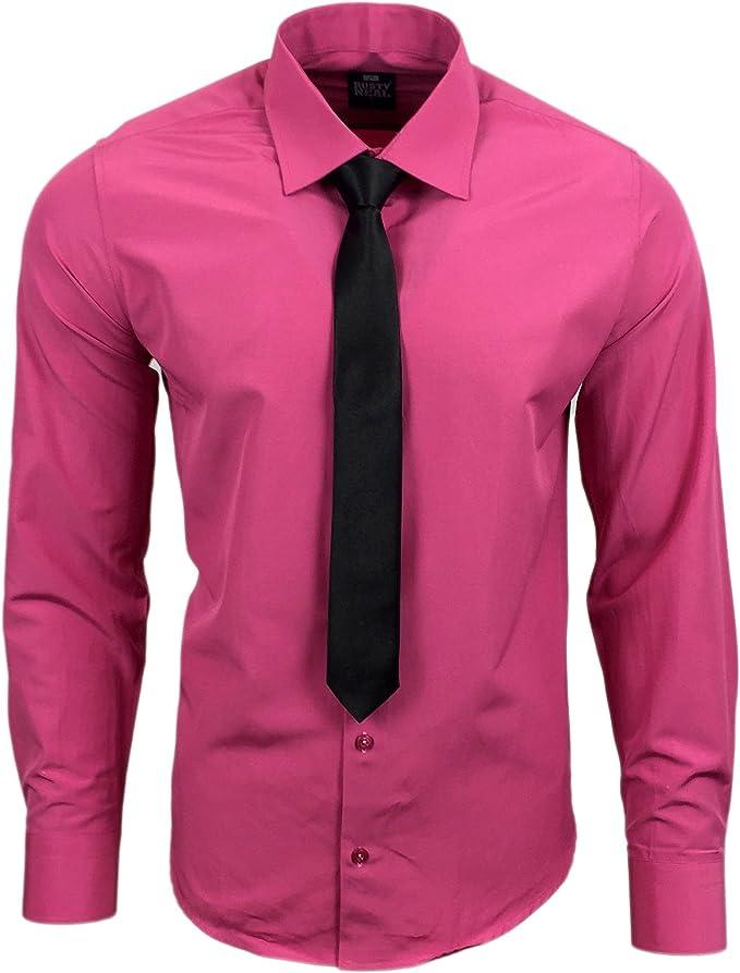 Rusty Neal R de 55 de KR Hombre Business Camisa con Corbata Rosa ...