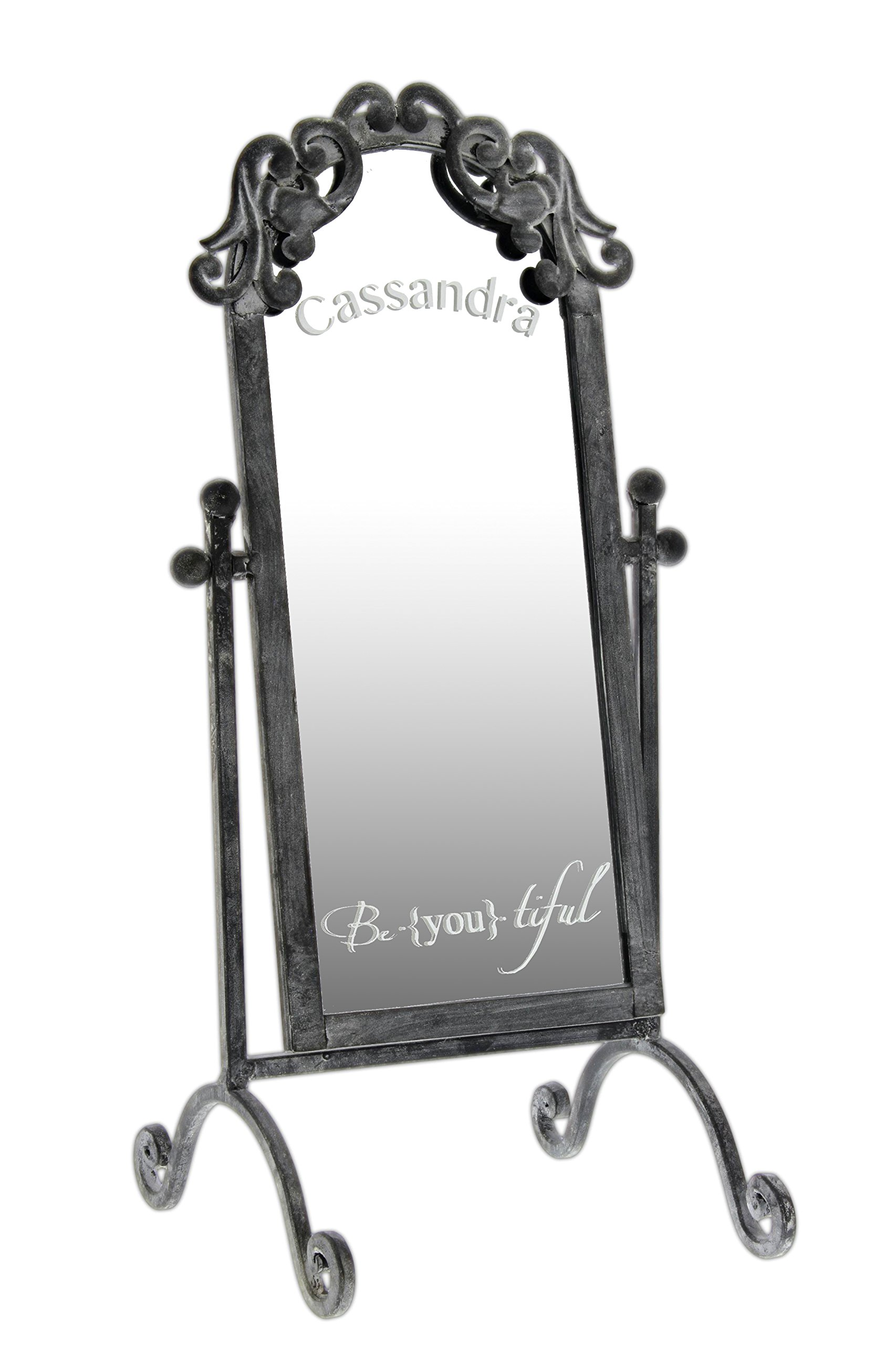 Personalized 17.5'' Vintage Style Inspirational Tabletop Vanity Mirror