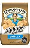 Newman's Own Alphabet Cookies, Vanilla, 7-Ounce Bags (Pack of 6)