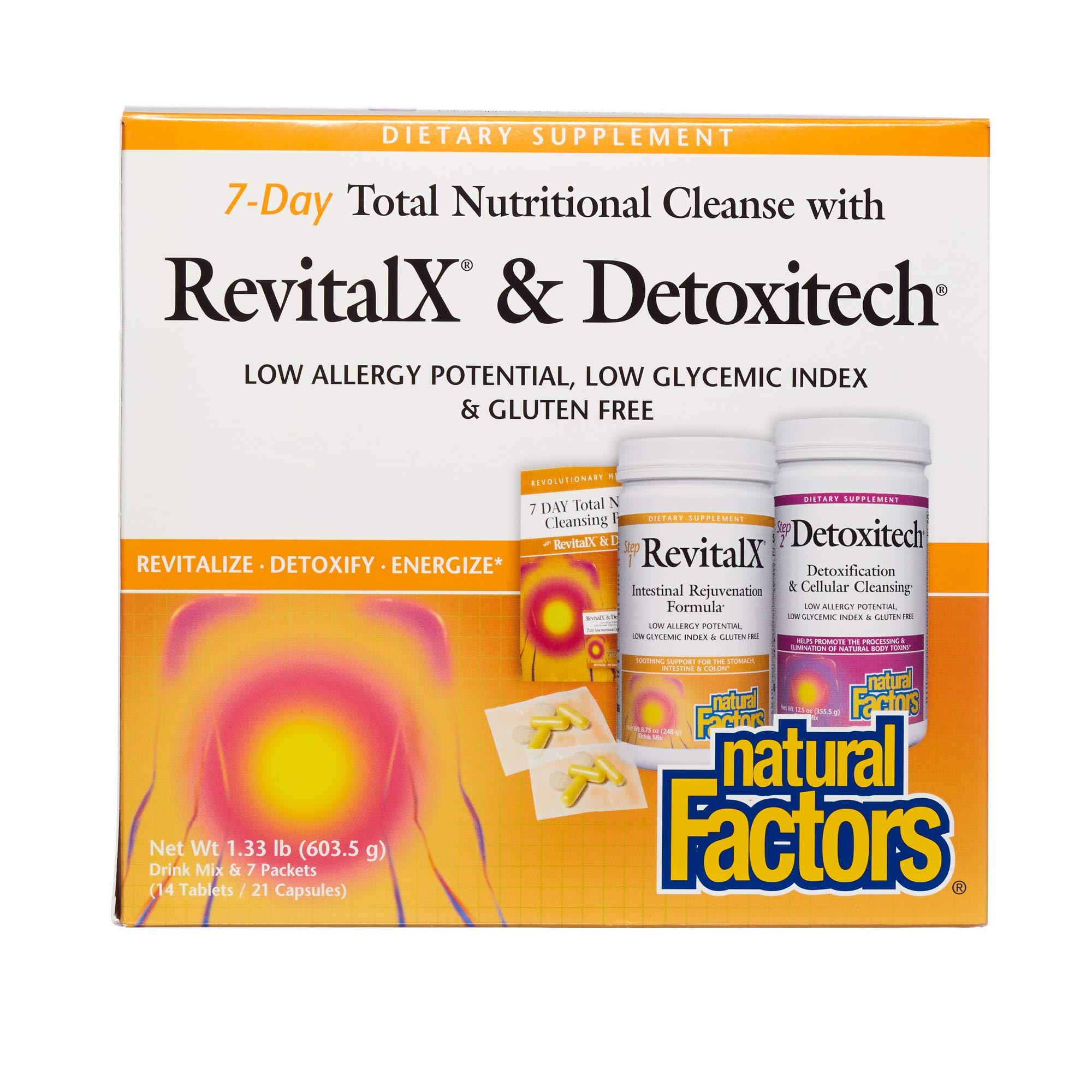 Natural Factors - RevitalX & Detoxitech, 7 Day Total Nutritional Cleansing Program, 7 Day Kit