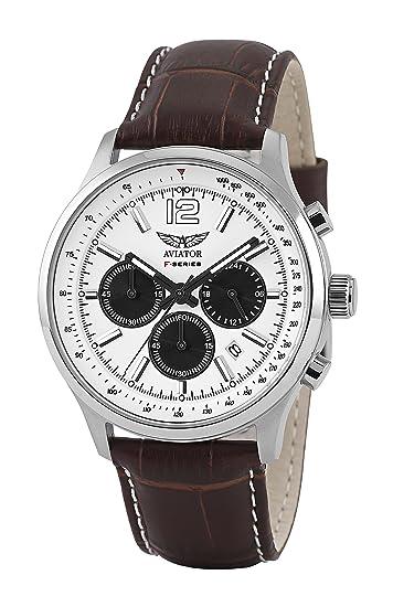 Aviator 18252 AVW1812G232 - Reloj de muñeca con cronómetro, diseño masculino: Amazon.es: Relojes