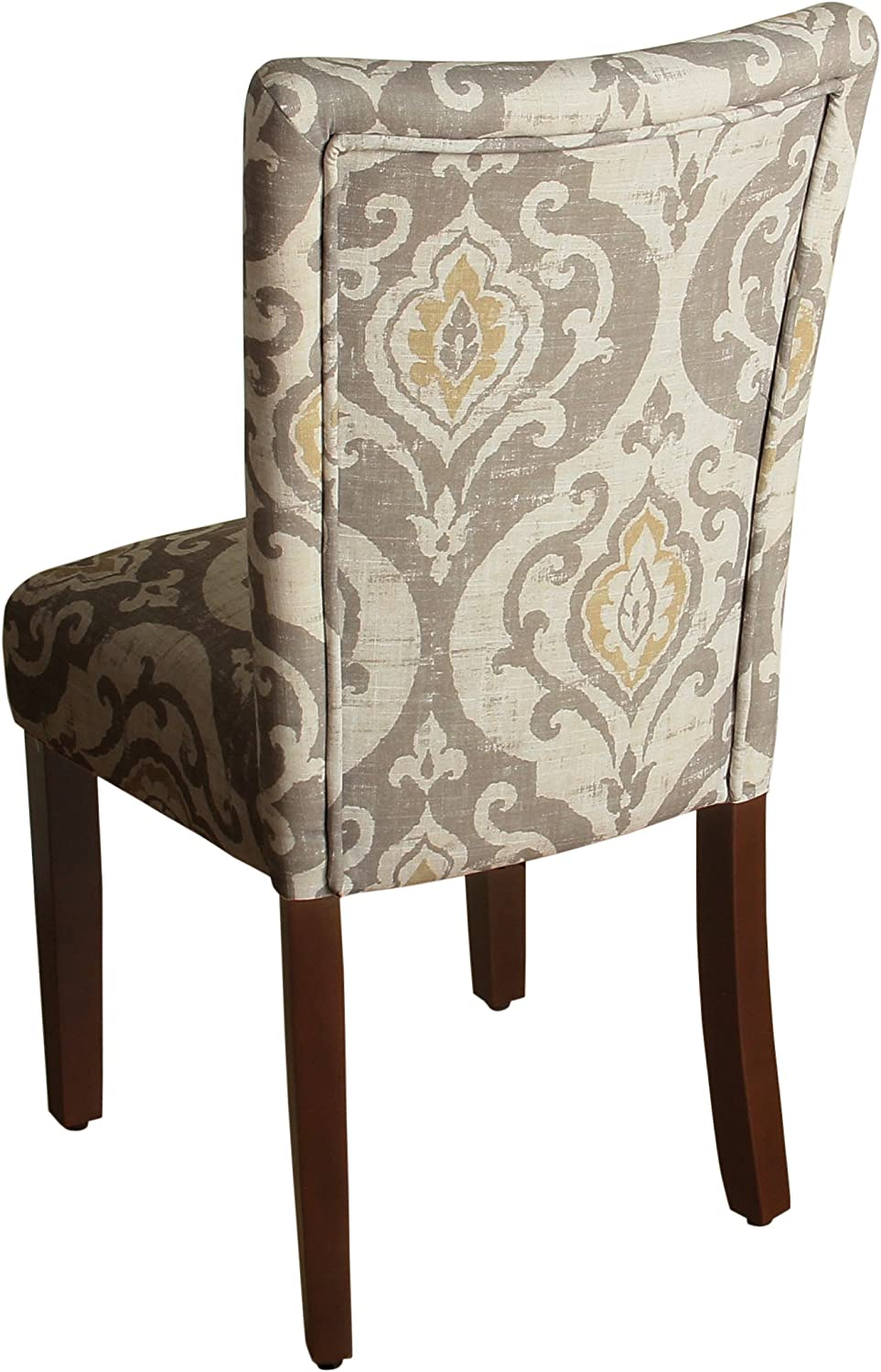 HomePop Modern Neutral Color Pallette Parson Upholstered Dining Chair, Set of 2