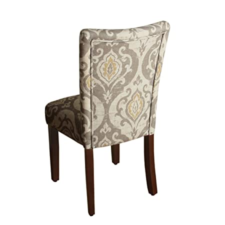 Modern Neutral Color Pallette Parson Upholstered Dining Chair, Set of 2