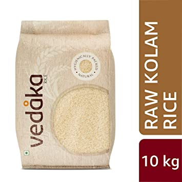 Amazon Brand - Vedaka Kolam Rice, Raw, 10kg