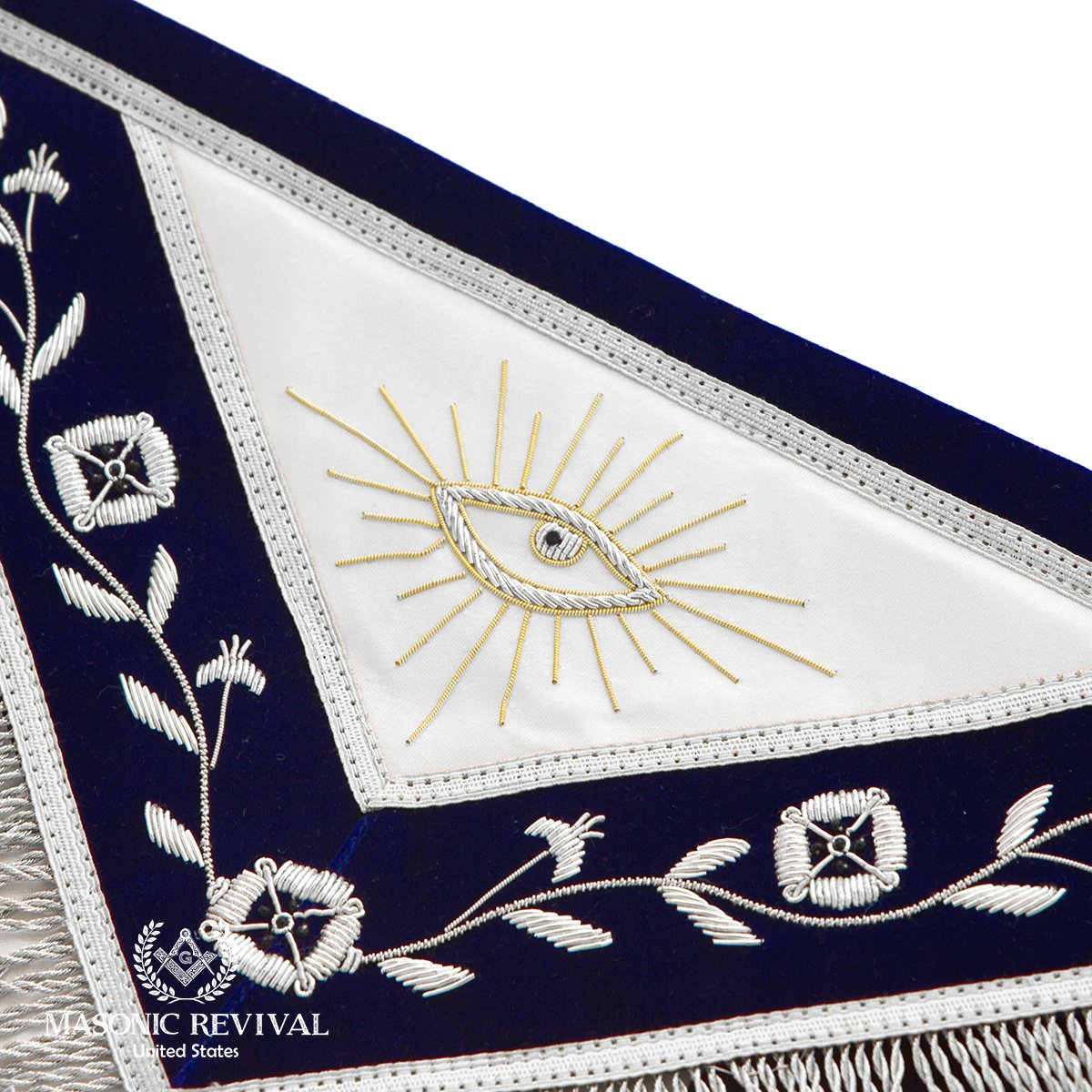 El Mixto Bullion Past Master Apron by Masonic Revival (with Square) by Masonic Revival (Image #3)