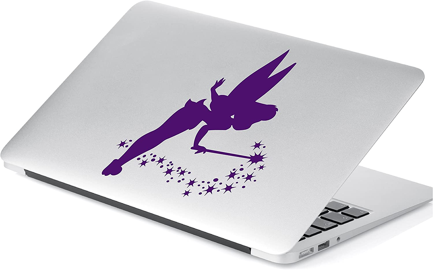 """Yoonek Graphics Tinkerbell Decal Sticker for Car Window, Laptop, Motorcycle, Walls, Mirror and More. # 539 (6"""" x 4.9"""", Violet)"""
