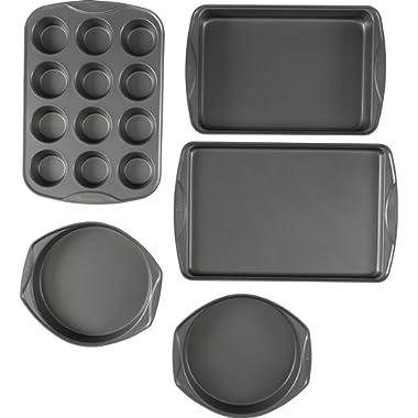 T-fal 84854 Signature Bakeware Set Assorted Gray