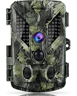 ABASK Trail Cameras 16MP 1080P Full HD Game Cameras with Night Vision Motion Activated, Hunting
