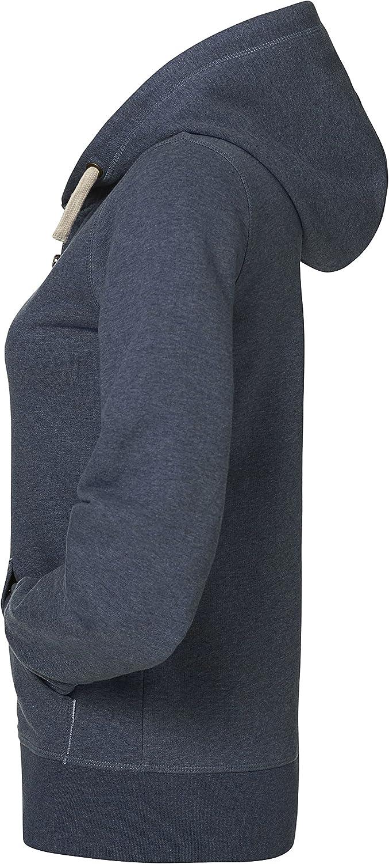 YTWOO Damen Kapuzenjacke aus Bio-Baumwolle Mix mit Reißverschluss, Damen Kapuzenpullover Bio - Kapuzensweater - Damen Hoodie mit Reißverschluss Dark Heather Blue