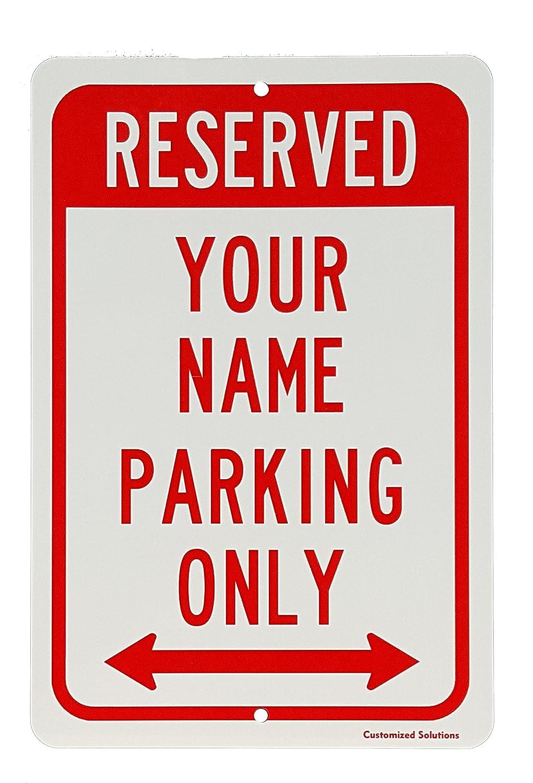 Personalizado reservado aparcamiento señal de aluminio ...