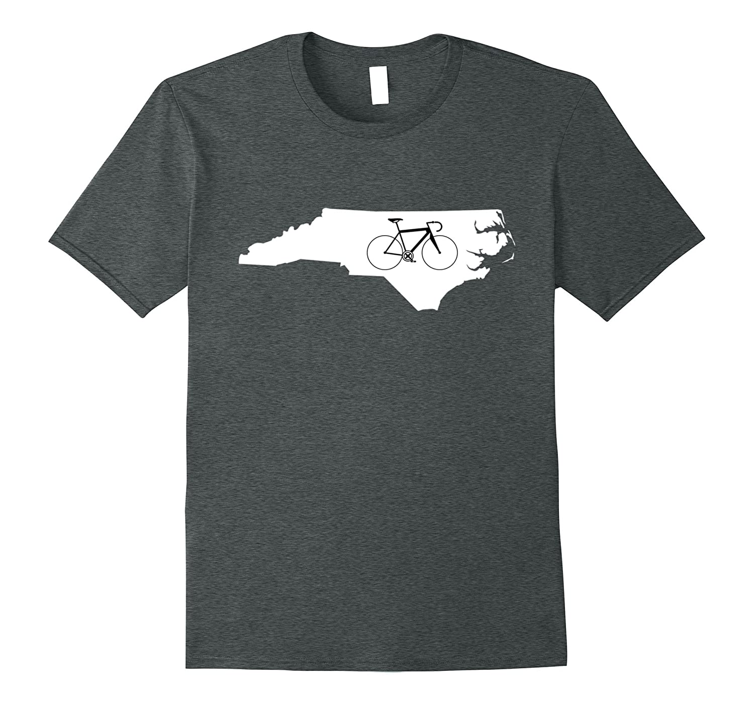 Bicycle North Carolina Shirt, Cyclist Tee, State Road Bike-T-Shirt