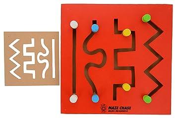 Skillofun Wooden Maze Chase - Basic Readiness, Multi Color